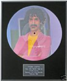 "FRANK ZAPPA-Framed 12"" Picture Disc-YOU ARE WHAT YOU IS"